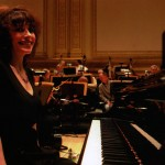 Catherine Wilson in rehearsal with New York Pops