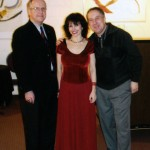 Catherine Wilson, solo piano post Hamilton Philharmonic Orchestra concert at Hamilton Place, Hamilton, Ontario with Orchestra Manager Alex Barron and Conductor Michael Reason
