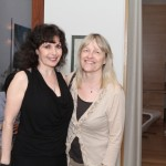 Oblivion Launch Party, June 2013 Pianist Catherine Wilson with visual artist Marjut Nousiainen Photo by Jaclyn Appleby