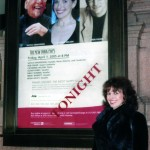 Catherine Wilson in front of Marquee at Carnegie Hall