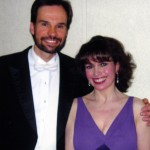 Catherine Wilson, solo piano with Conductor Roberto DeClara at Oakville Centre for the Performing Arts, Oakville Symphony Orchestra, Oakville, Ontario
