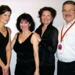 Ensemble Vivant with manager Ian Davies Erica Beston, violin; Catherine Wilson, piano/artistic director; Sharon Prater, cello; Ian Davies, Manager