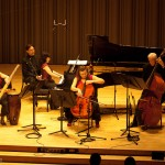 Erica Beston, percussion; Catherine Wilson, piano; Sybil Shanahan, cello; Dave Young, bass