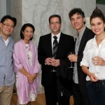 Oblivion launch party, June 2013 Sam Yeung, friend and supporter; TSO Violinist and Host, Virginia Wells; Corey Gemmell, Violinist; Robert Divito, Film Maker; Cecilia Divito, Oblivion Crew Production Crew Photo by Jaclyn Appleby