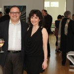 Oblivion launch party, June 2013 Pianist Catherine Wilson with Publicist Vince Ciarlo Photo by Jaclyn Appleby